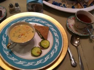Chowder and tea sandwiches