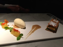 Ice cream and millefeuille