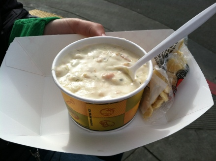 Clam Chowder from Fisherman's Wharf