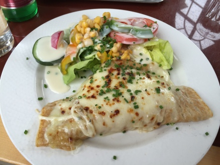 Crepe with a lovely side salad