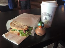 BELT Sandwich and an amazing latte