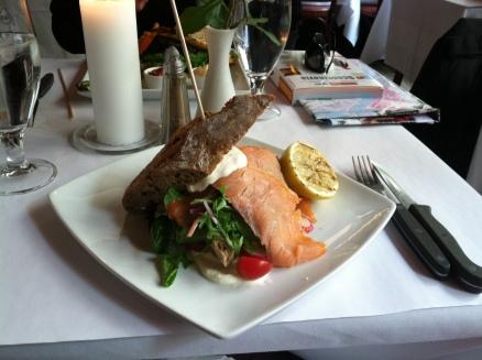 Amazing salmon sandwich!