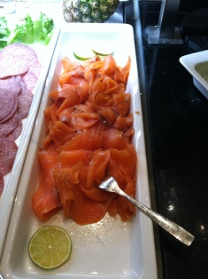 Salmon for breakfast