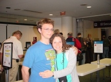 My older brother and me (he is not a hugger!)