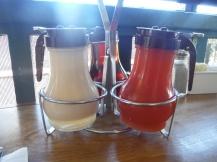 Coconut syrup and Papaya syrup