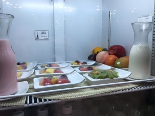 Sampling of food at Quito Airport