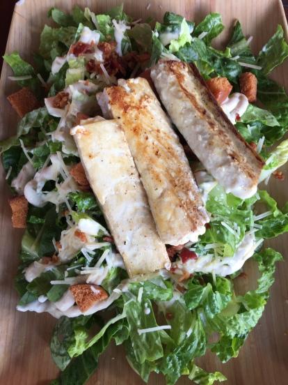 Turbot Caesar Salad