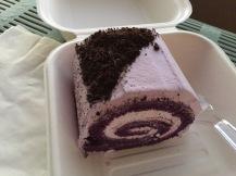 Taro Oreo cake roll
